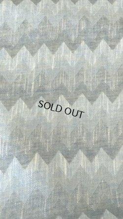 画像1: 綿麻ジグザグ ネイビーブルー   巾110cm