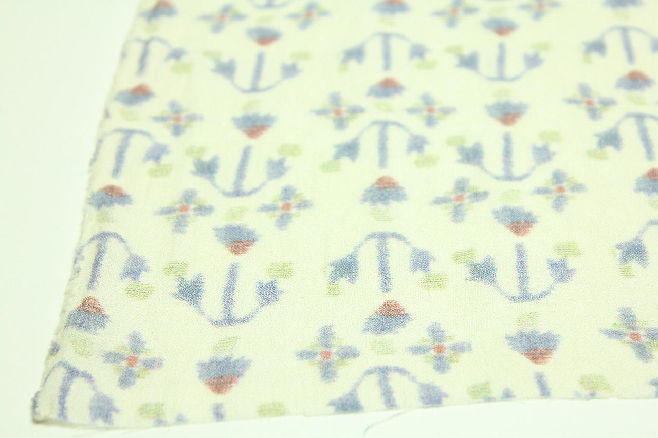 画像: リネン66番手 薄地 近江上布プリント柄 「雪中花」 幅115cmX長さ210cm