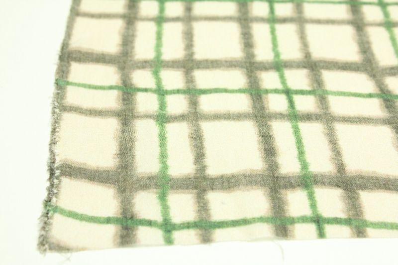画像: リネン66番手 薄地 近江上布プリント柄 「チェック柄」 幅115cmX長さ210cm