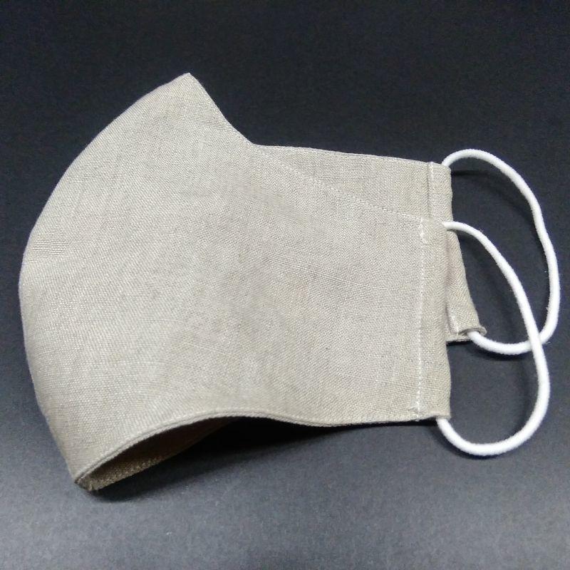 画像4: オーガニックリネン布マスク用ハンドメイドセット(4〜5枚分、生地+ゴム)