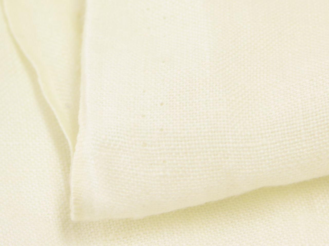 画像: シャトル織リネン43番手オフ白中厚地ソフト仕上2Mパック【特別パック】